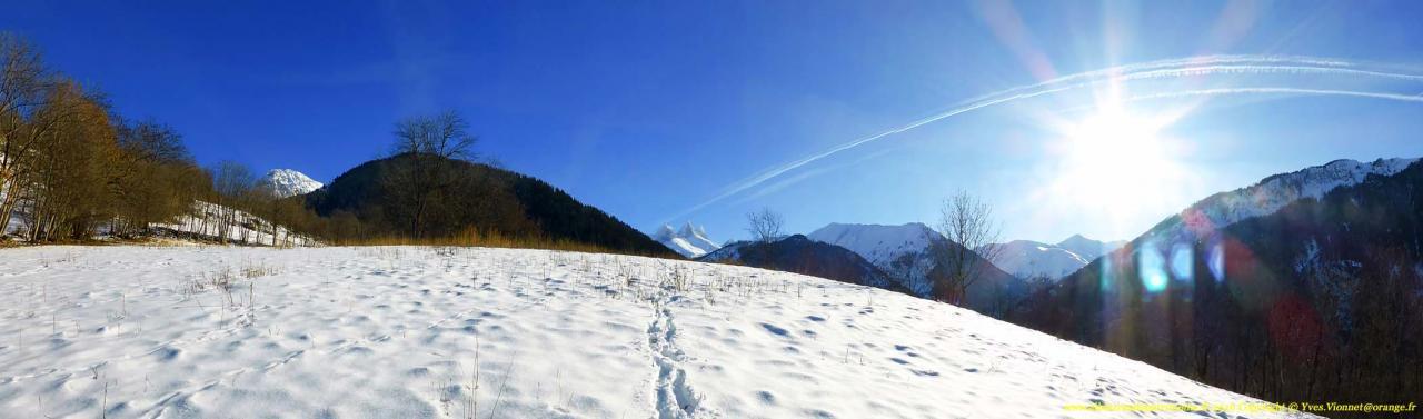 Les Aiguilles d'Arves depuis Le Planay
