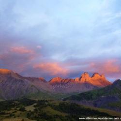Couché de soleil lors de l'observation de la grande faune