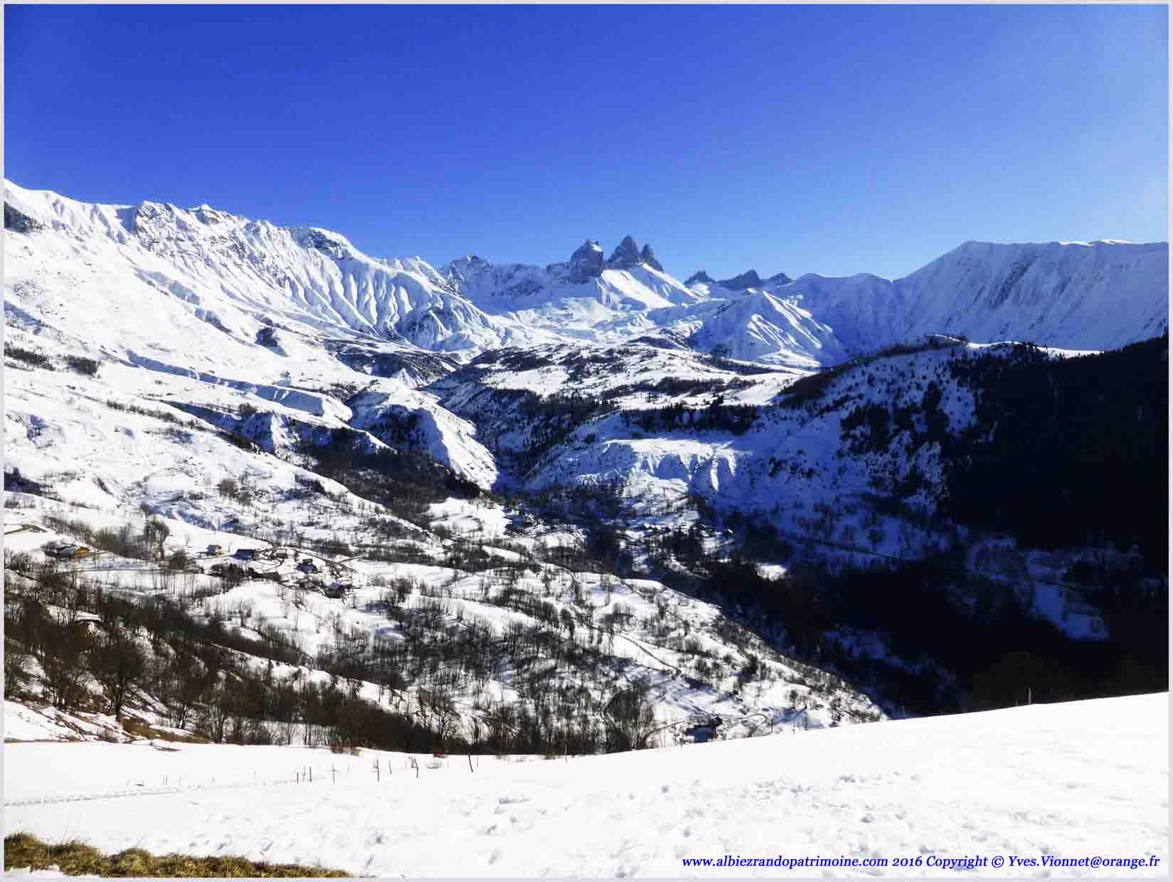 Une partie du panorama d'Albiez
