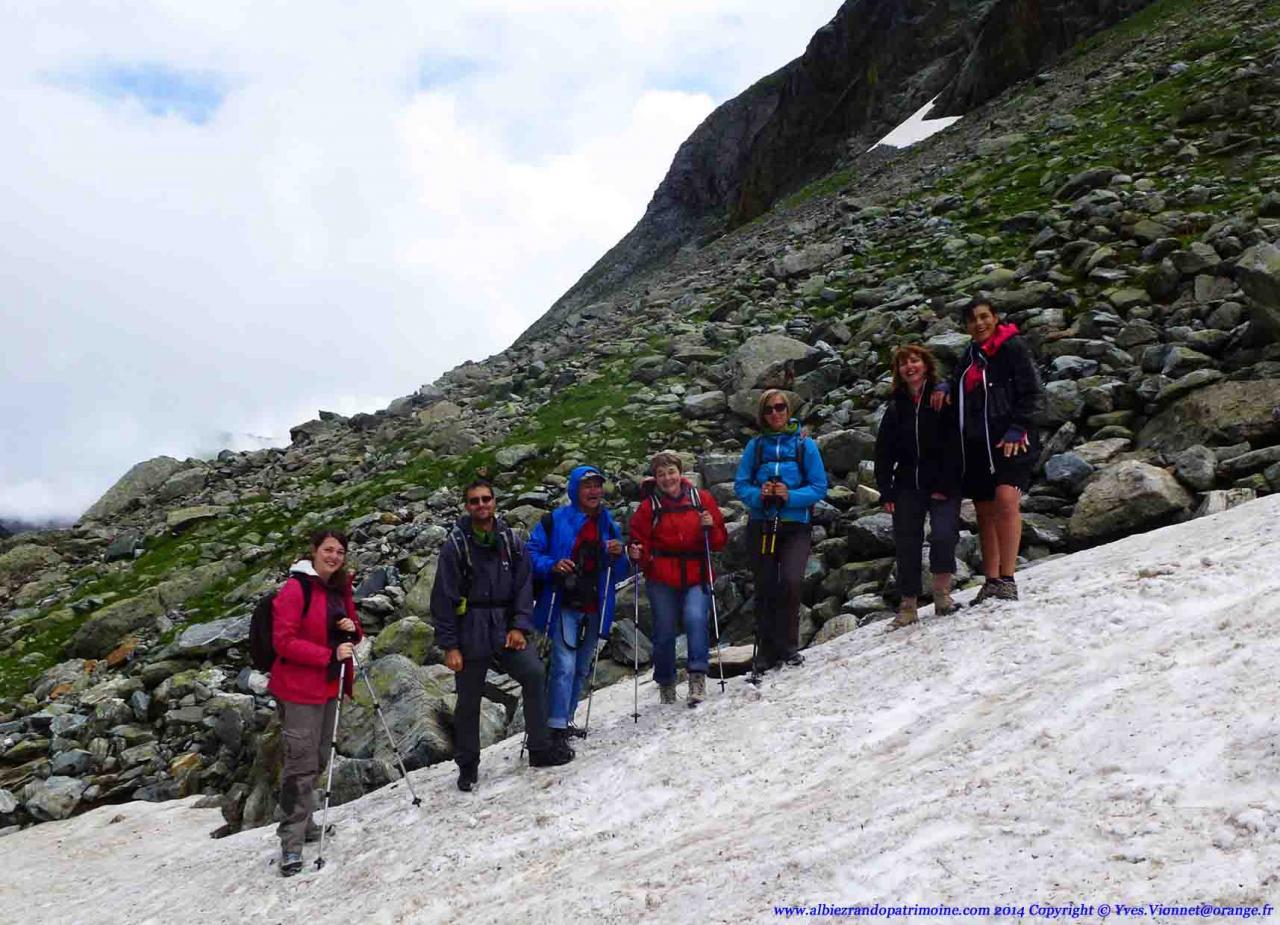 Rando journée, Lac et Col de la Croix 2529 m, Massif de Belledonne
