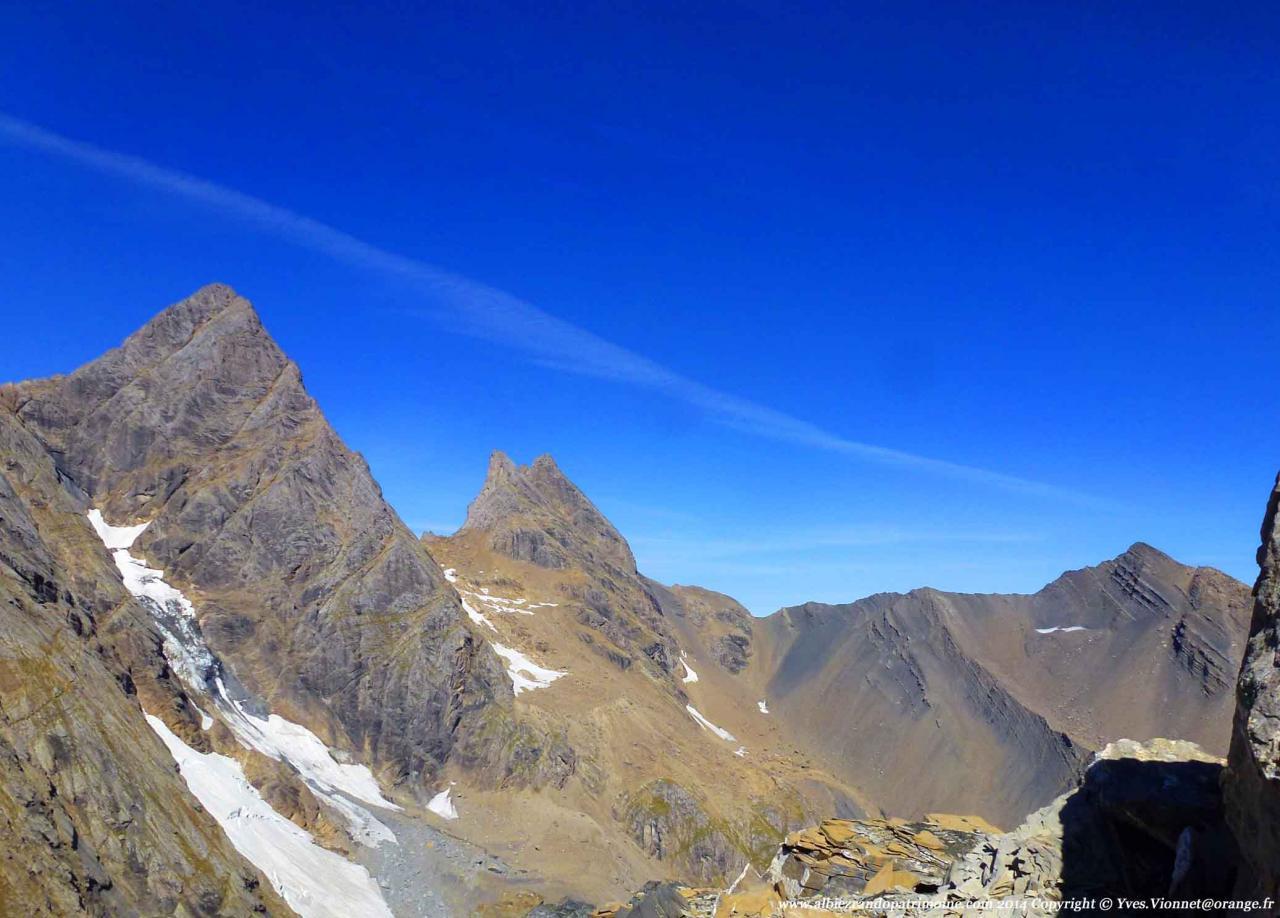 Les Aiguilles d'Arves depuis le Col des 3 Pointes