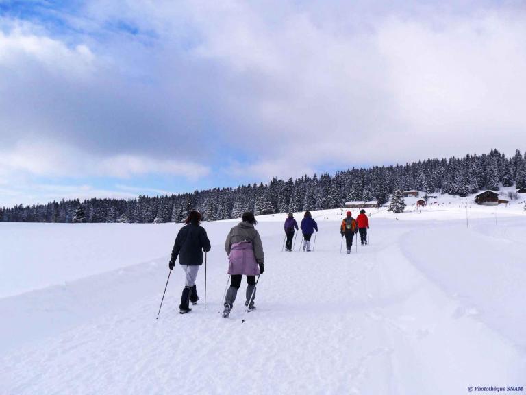 10) Petite randonnée en raquettes - Vac. scolaires