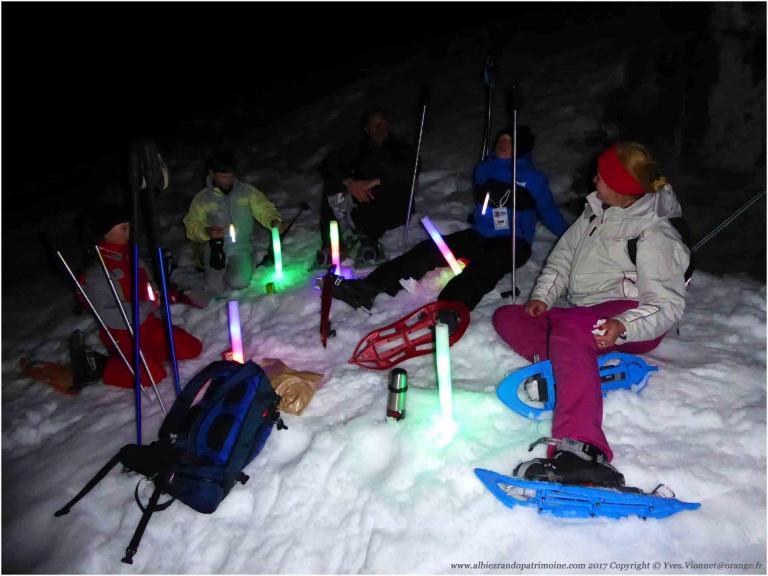Apéro eskimo aux flambeaux